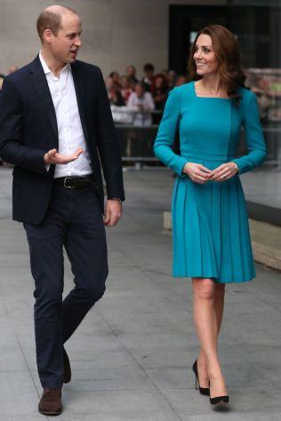 La Duchessa di Cambridge in Emilia Wickstead al The One Show, London