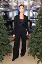 Lily James in Burberry al Burberry Christmas Campaign Launch, New York