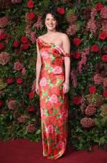 Phoebe Waller Bridge in Richard Quinn ai Evening Standard Theatre Awards, London
