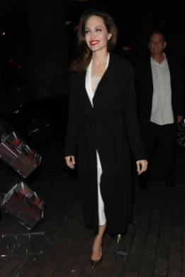 Angelina Jolie in Ralph&Russo al BFI for the 'Preventing Sexual Violence in Conflict Film Festival', London