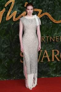 Eleanor Tomlison in JW ANDERSON ai Fashion Awards 2018, London