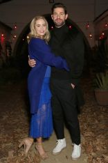 Emily Blunt, in Cushine et Ochs dress e John Krasinski allo screening of The Quiet Place, Los Angeles.