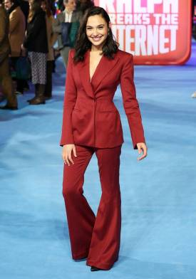 Gal Gadot in Mugler alla 'Ralph Breaks The Internet' film premiere, London