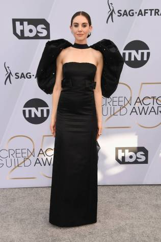 Alison Brie in Miu Miu ai SAG Awards 2019