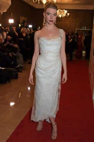 Anya Taylor-Joy in Vivienne Westwood ai London Film Critics' Circle Awards.