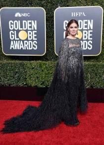 Debra Messing ai Golden Globes 2019
