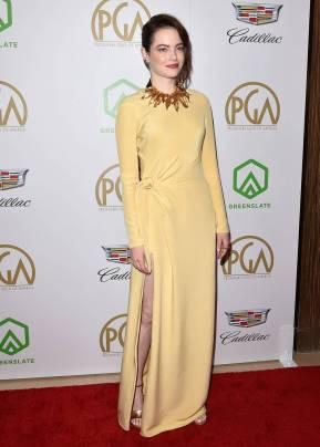 Emma Stone in Louis Vuitton ai Producers Guild Awards, California