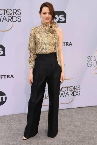 Emma Stone in Louis Vuitton ai SAG Awards 2019