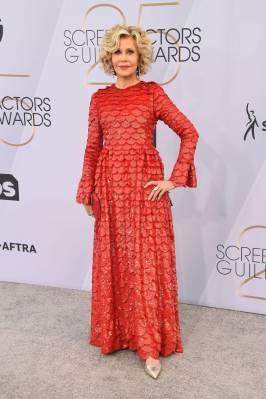 Jane Fonda in Valentino ai SAG Awards 2019