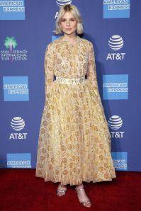 Lucy Boynton in Emilia Wickstead al Palm Springs International Film Gala