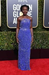 Lupita Nyong'o in Calvin Klein ai Golden Globes 2019