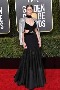 Rosamund Pike ai Golden Globes 2019