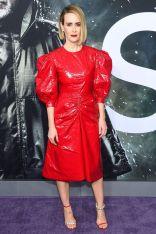 Sarah Paulson in Calvin Klein 205W39NYC e gioielli Ana Khouri alla premiere of Glass, NY