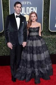 Sasha Baron Cohen e Isla Fisher ai Golden Globes 2019