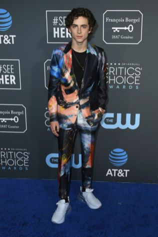 Thimotheé Chalamet ai 2019 Critics' Choice Awards
