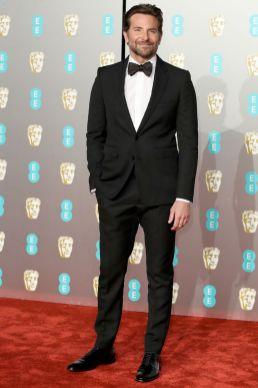 Bradley Cooper in Celine ai BAFTAs 2019, London
