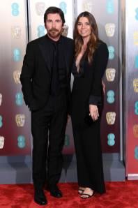 Christian Bale e Sibi Blazic ai BAFTAs 2019, London