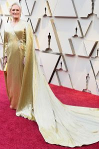 Glen Close in Carolina Herrera agli Oscars 2019,LA