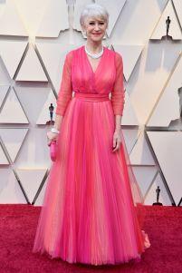 Helen MIrren in Schiaparelli agli Oscars 2019,LA