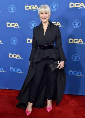 Helen Mirren in Brandon Maxwell con pumps Roger Vivier ai Directors Guild Of America Awards, Hollywood