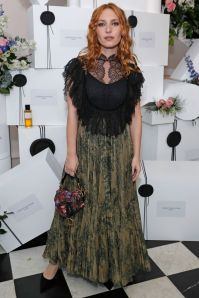 Josephine de la Baume in Dior al Maison Christian Dior Cocktail Party, London