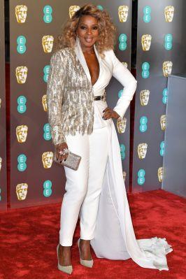 Mary J Blige ai BAFTAs 2019, London