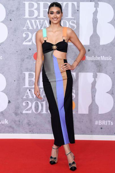 Neelam Gill in Fausto Puglisi ai Brit Awards 2019, London