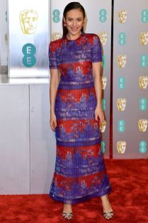 Olga Kurylenko in Armani ai BAFTAs 2019, London