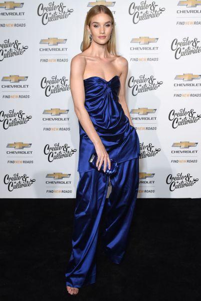 Rosie Huntington-Whiteleyin Marina Moscone ensemble al Create & Cultivate and Chevrolet launch event