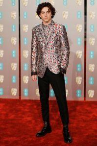 Timothee Chalamet ai BAFTAs 2019, London