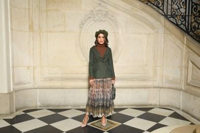 Camila Coehlo in Dior alla sfilata DIor AW 2019/2020