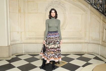 Gemma Arterton in Dior alla sfilata DIor AW 2019/2020