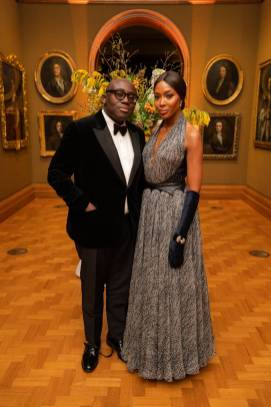 Edward Enninful e Naomi Campbell The National Portrait Gallery Gala 2019