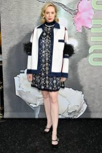 Gwendoline Christie in Miu Miu al Miu Miu Fashion Show, Paris