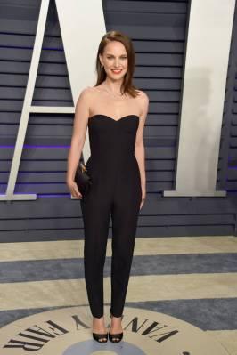 Natalie POrtman in Dior Haute Couture al Vanity Fair Oscar after party, LA