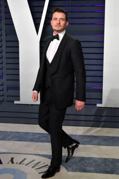 Orlando Bloom in Dunhill al Vanity Fair Oscar after party, LA