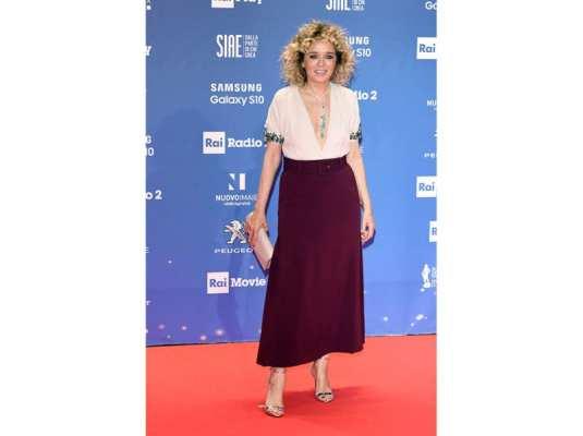 Valeria Golino in Prada ai David di Donatello 2019