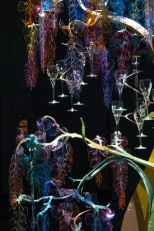 Un dettaglio dell'opera HyperNature di Bethan Laura Wood per Perrier-Jouët