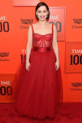 Emilia Clarke in Dolce and Gabbana al Time 100 Gala