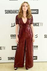 Jodie Comer in Temperley London all'AMC Network Summit, New York.