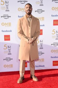 Michael B. Jordan in Burberry ai 50th annual NAACP Image Awards, Los Angeles