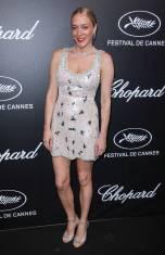 Chloe Sevigny in Miu Miu al Trophée Chopard Event al Cannes Film Festival Red Carpet 2019