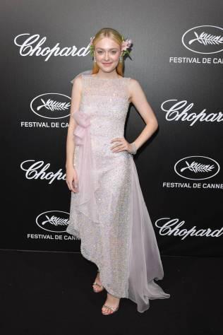 Dakota Fanning in Rodarte al Trophée Chopard Event al Cannes Film Festival Red Carpet 2019