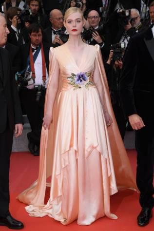 Elle Fanning in Gucci alla The Dead Don't Die premiere, Cannes Film Festival