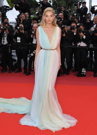 Elsa Hosk in Etro al Cannes Film Festival Red Carpet 2019