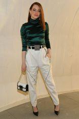 Emma Stone in Louis Vuitton al Louis Vuitton 2020 cruise show, New York