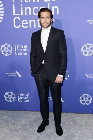 Jake Gyllenhaal in Burberry al Film Society of Lincoln Center's 50th Anniversary Gala, NYC