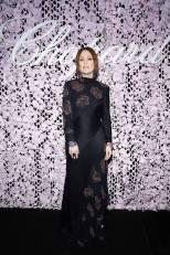Julianne Moore in Chloé al Chopard Lovenight Photocall al Cannes Film Festival Red Carpet 2019