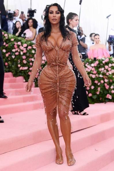 Kim Kardashian West in Manfred Thierry Mugler al MET Gala, NY
