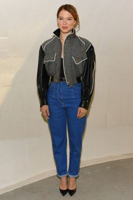 Lea Sexdoux in Louis Vuitton al Louis Vuitton 2020 cruise show, New York